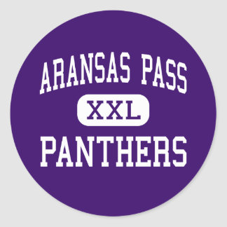 Aransas Pass - Panthers - High - Aransas Pass Classic Round Sticker
