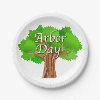 Arbor Day Holiday Paper Plate