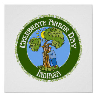 Arbor Day Indiana Poster