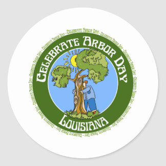 Arbor Day Louisiana Classic Round Sticker