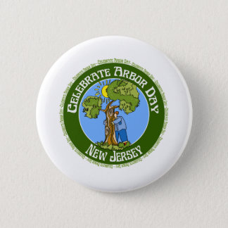 Arbor Day New Jersey 2 Inch Round Button