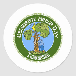 Arbor Day Tennessee Classic Round Sticker
