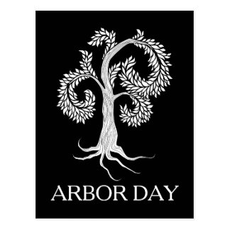 arbor day tree by abbey foster postcard