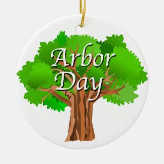 Arbor Day Tree Holiday Ceramic Ornament