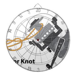 Arbor knot Marked diagram vector illustration Dartboard