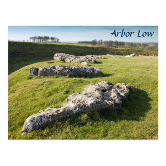 Arbor Low Stone Circle in Derbyshire photo Postcard