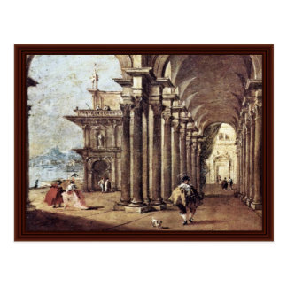 Arbor On The Banks Of A River By Guardi Francesco Postcard
