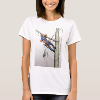 Arborist tree surgeon christmas card T-Shirt