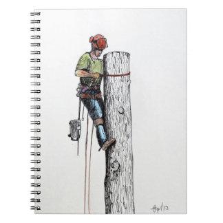 Arborist Tree Surgeon Stihl christmas present Notebook