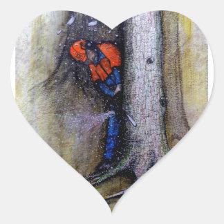 Arborist tree surgeon stihl husqvarna heart sticker