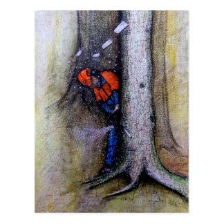Arborist tree surgeon stihl husqvarna postcard