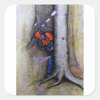 Arborist tree surgeon stihl husqvarna square sticker