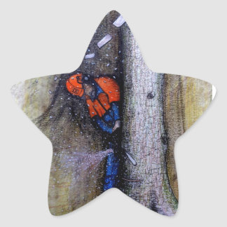 Arborist tree surgeon stihl husqvarna star sticker