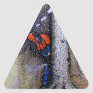 Arborist tree surgeon stihl husqvarna triangle sticker