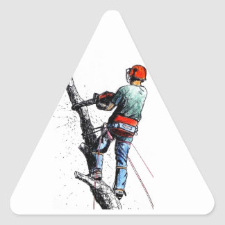 Arborist Tree Surgeon Stihl Triangle Sticker