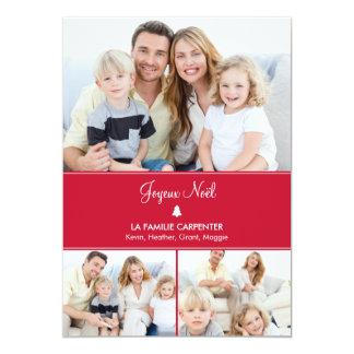 """Arbre cartes de photo de vacances modernes 5"""" x 7"""" invitation card"""