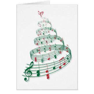 Arbre de Noël avec des notes de musique