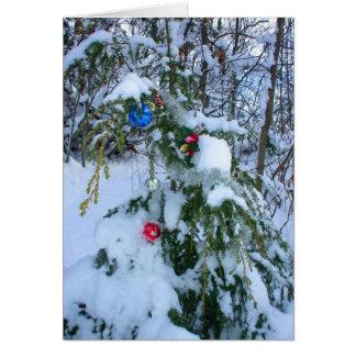 Arbre de Noël démodé Carte De Vœux