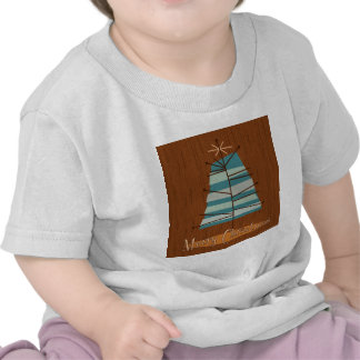 Arbre de Noël moderne de la moitié du siècle T-shirts