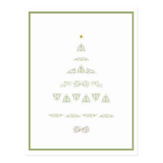 Arbre de Noël vert Cartes Postales