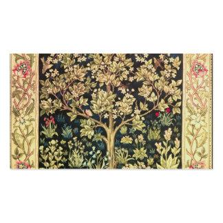 Arbre de William Morris de Pre-Raphaelite de cru d Modèles De Cartes De Visite