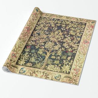 Arbre de William Morris de Pre-Raphaelite de cru Papiers Cadeaux