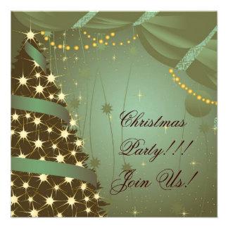 Arbre et rideau d'invitation de fête de Noël
