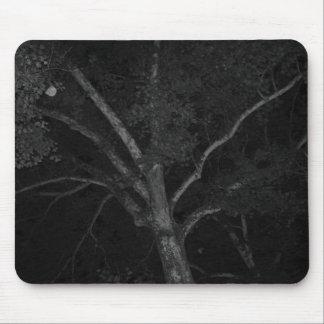 Arbre noir et blanc tapis de souris