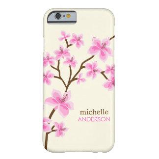 Arbre rose de fleurs de cerisier coque iPhone 6 barely there