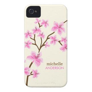 Arbre rose de fleurs de cerisier coques iPhone 4