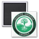 Arbre vert allant la Virginie Magnets Pour Réfrigérateur
