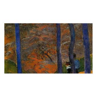 Arbres de bleu de Paul Gauguin- Cartes De Visite Personnelles