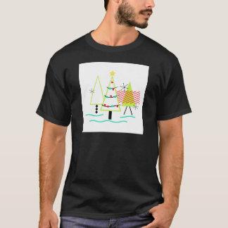 arbres de Noël modernes de la moitié du siècle T-shirt