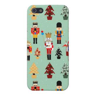 Arbres et casse-noix de Noël lunatiques iPhone 5 Case