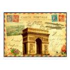 Arc de Triomphe antique postcard collage Paris