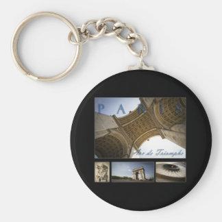 Arc de Triomphe Basic Round Button Keychain