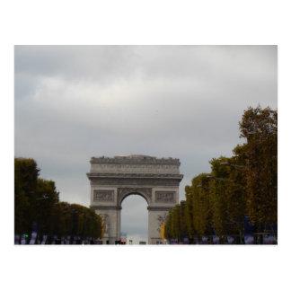 Arc de Triomphe Champs Elysees Paris France Postcard