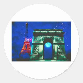 Arc de Triomphe Classic Round Sticker