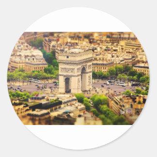 Arc de Triomphe de l'Étoile, Paris, France Classic Round Sticker