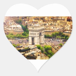 Arc de Triomphe de l'Étoile, Paris, France Heart Sticker