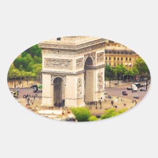 Arc de Triomphe de l'Étoile, Paris, France Oval Sticker
