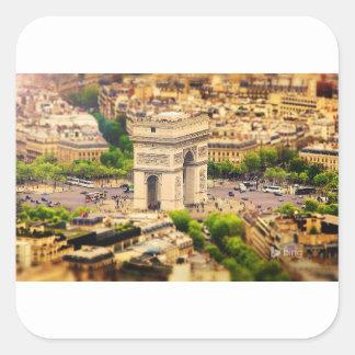 Arc de Triomphe de l'Étoile, Paris, France Square Sticker