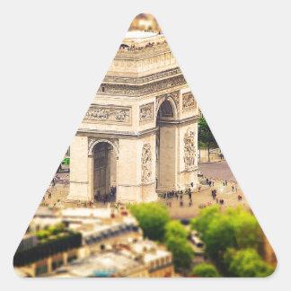 Arc de Triomphe de l'Étoile, Paris, France Triangle Sticker