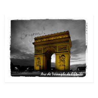 Arc de Triomphe de l'Étoile Paris France Postcard