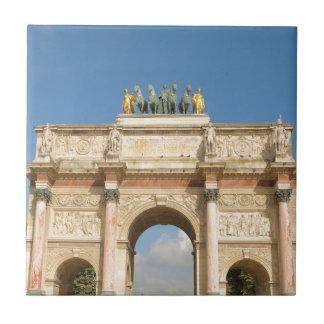 Arc de Triomphe du Carrousel in Paris, France Tile