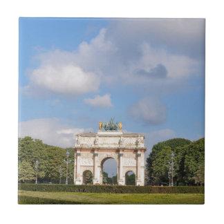 Arc de Triomphe du Carrousel in Paris, France Tiles