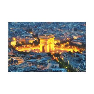Arc de Triomphe, Paris, France Gallery Wrap Canvas
