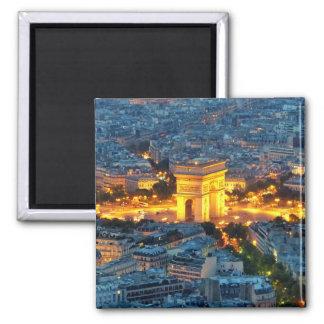 Arc de Triomphe, Paris, France Square Magnet