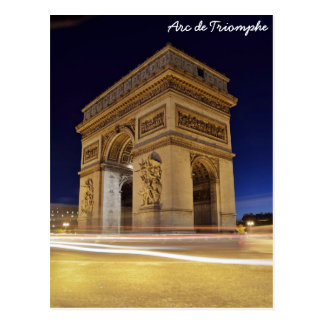 Arc de Triomphe, Paris, France Postcard