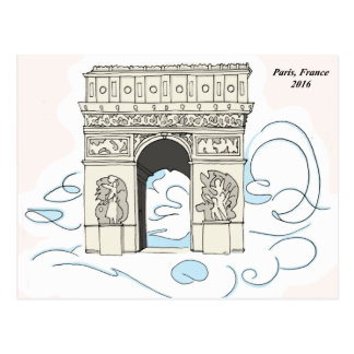 Arc De Triomphe - Paris, France Postcard